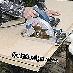 Make the cuts with a circular saw.