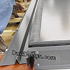 Nail the aluminum curbs