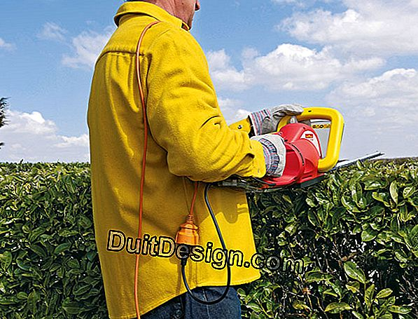 How to use a double action hedge trimmer