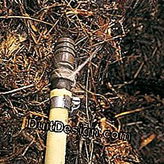 Fight water leaks from watering in the garden