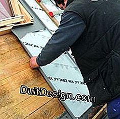 Install a window on a zinc roof: install