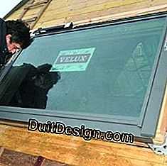 Install a window on a zinc roof: roof