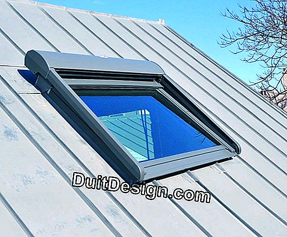 Install a window on a zinc roof