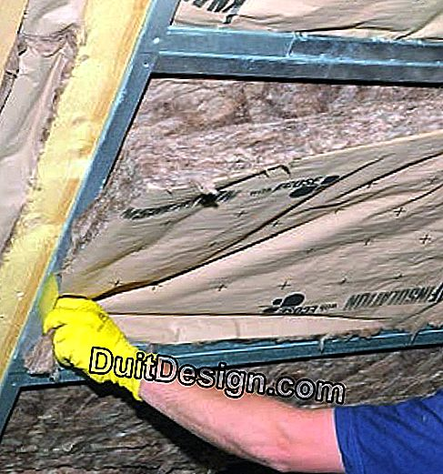 Sub-crawling insulation in two crossed layers: crossed