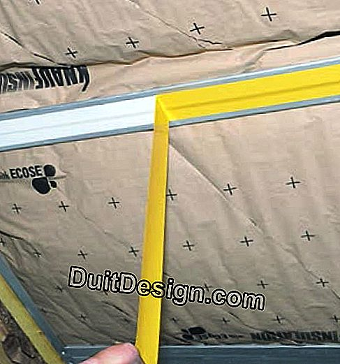 Sub-crawling insulation in two crossed layers: insulation
