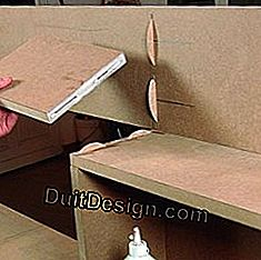 Glue the elements of a piece of MDF furniture