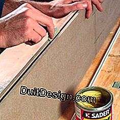 Glue a rail for sliding door before fixing it more durably