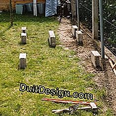Install concrete blocks