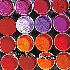 Coatings, whitewashes, glazes: pigment in colors: whitewashes