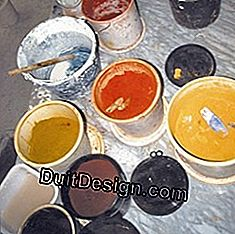 Coatings, whitewashes, glazes: pigment in colors: colors