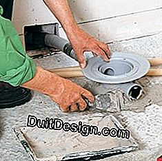 Position the drain of a shower before pouring a concrete slab