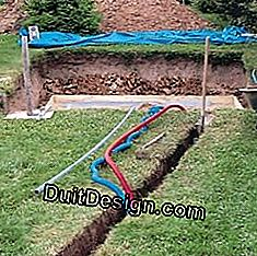 Arrange and cover the electricity and water ducts
