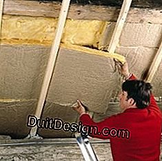 Install glass wool and drywall