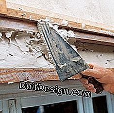 Project and scrape the plaster