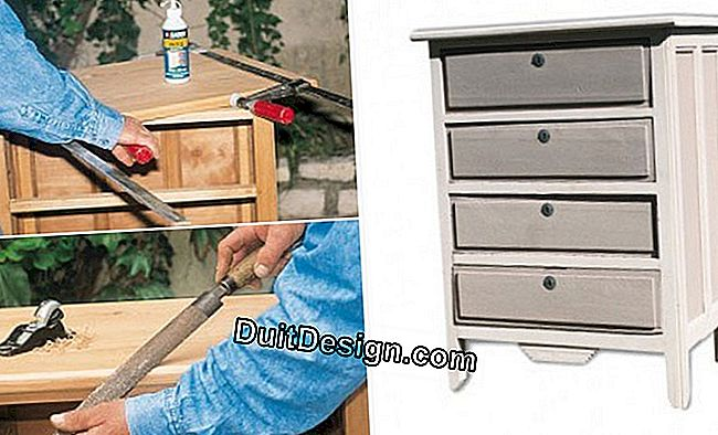 Restore yourself a wooden chest of drawers
