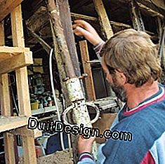 Compare the condition of wooden beams