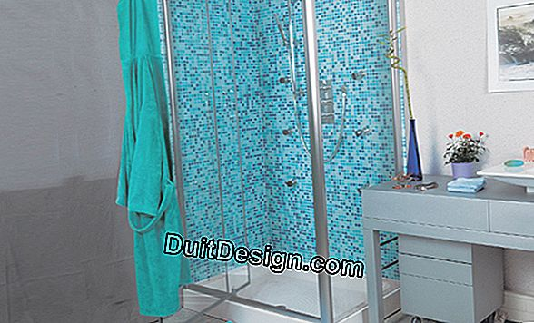 A shower with hydro-massage jets