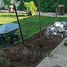 Slab support: concrete on hedge of rubble