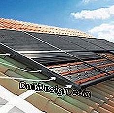 Photovoltaic panels with heat recovery device.