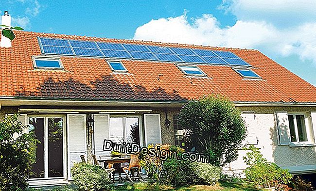 House with solar panels.