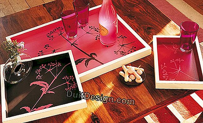 Decorate and offer decorative trays