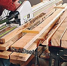 Cutting wooden planks
