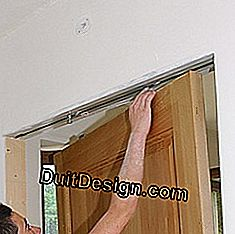 install a sliding door on the hangers