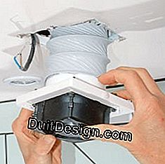 remove the bathroom aerator from the exhaust duct