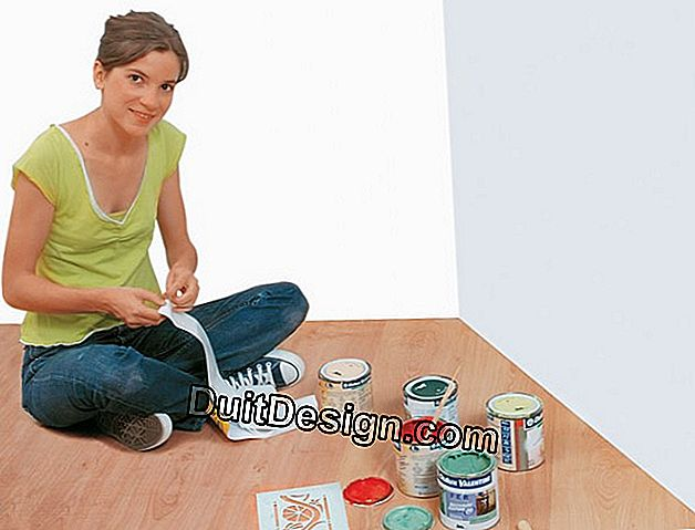 Use stencils to decorate at home