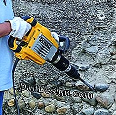 Work with a jackhammer: tool