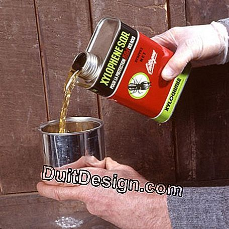 Pour the paint product